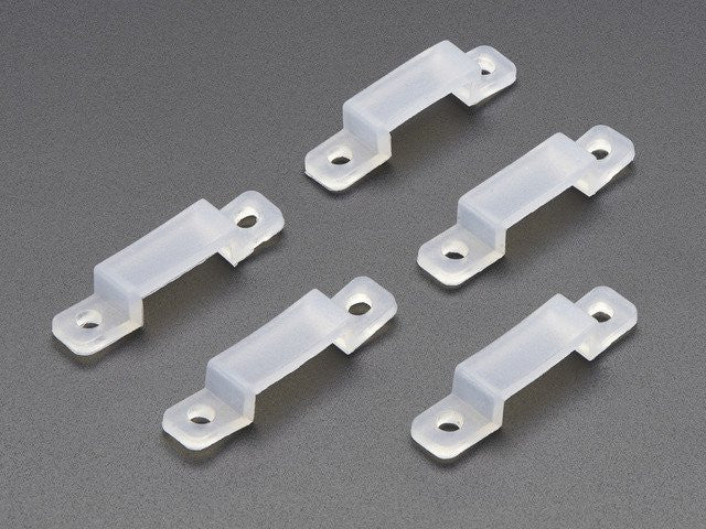 Silicone Clips for NeoPixel LED Strips - set of 5 - Chicago Electronic Distributors