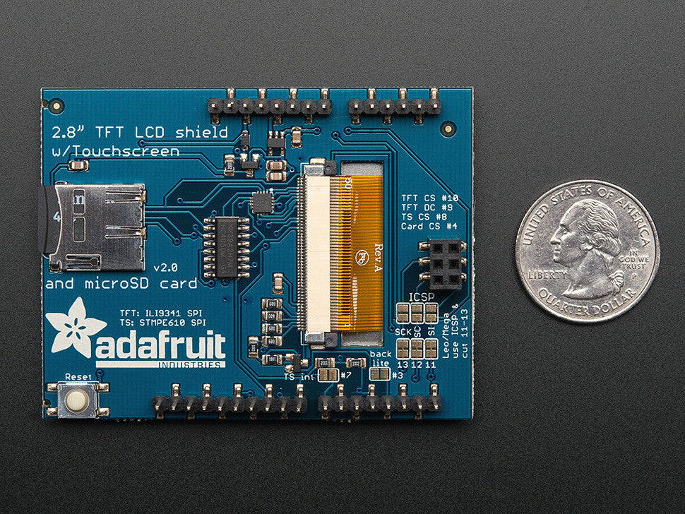 "2.8"" TFT Touch Shield for Arduino with Resistive Touch Screen - Chicago Electronic Distributors  - 3"