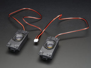 Stereo Enclosed Speaker Set - 3W 4 Ohm - Chicago Electronic Distributors  - 1