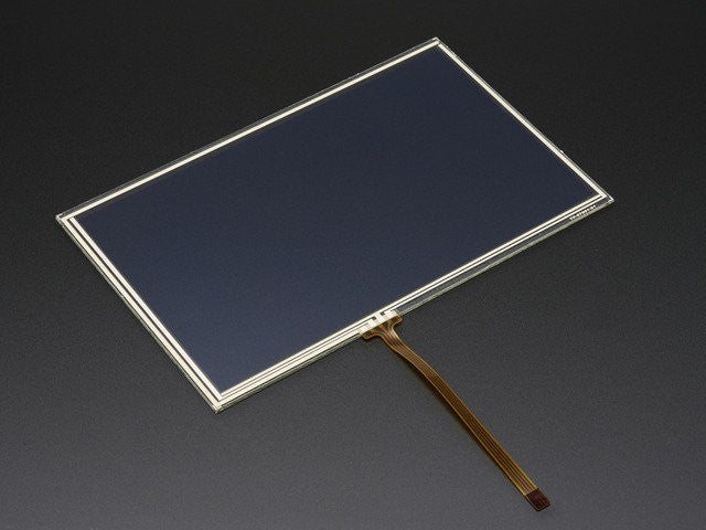 "Resistive Touchscreen Overlay - 7"" diag. 165mm x 105mm - 4 Wire - Chicago Electronic Distributors"