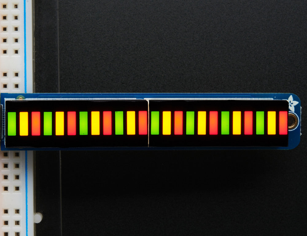 Bi-Color (Red/Green) 24-Bar Bargraph w/I2C Backpack Kit - Chicago Electronic Distributors  - 1