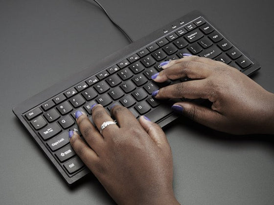Mini Chiclet Keyboard - USB Wired - Black - Chicago Electronic Distributors