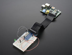 Assembled Adafruit Pi T-Cobbler Breakout for Raspberry Pi - Chicago Electronic Distributors  - 3