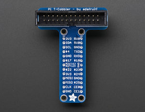 Assembled Adafruit Pi T-Cobbler Breakout for Raspberry Pi - Chicago Electronic Distributors  - 1