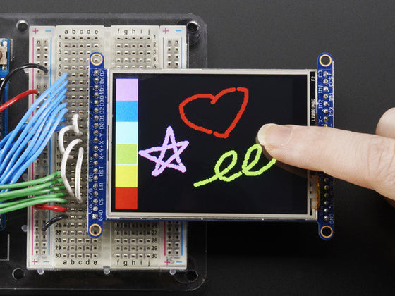 "2.8"" TFT LCD with Touchscreen Breakout Board w/MicroSD Socket - Chicago Electronic Distributors  - 1"