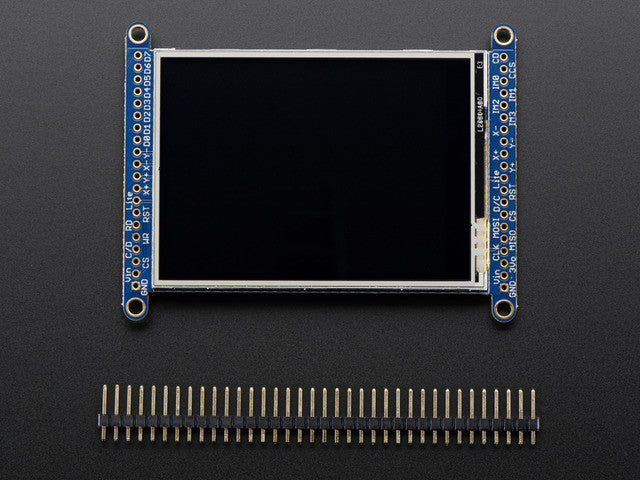 "2.8"" TFT LCD with Touchscreen Breakout Board w/MicroSD Socket - Chicago Electronic Distributors  - 4"