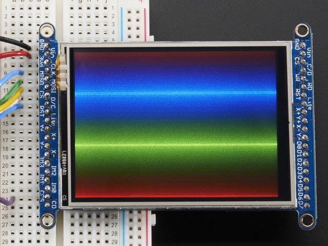 "2.8"" TFT LCD with Touchscreen Breakout Board w/MicroSD Socket - Chicago Electronic Distributors  - 5"