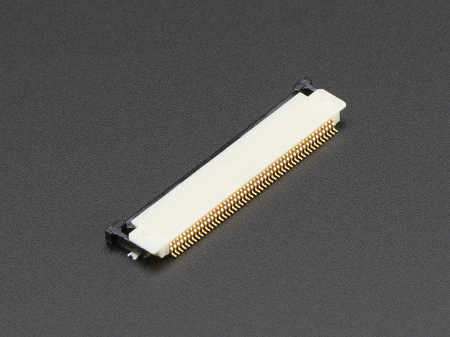 50-pin 0.5mm pitch top-contact FPC SMT Connector - Chicago Electronic Distributors