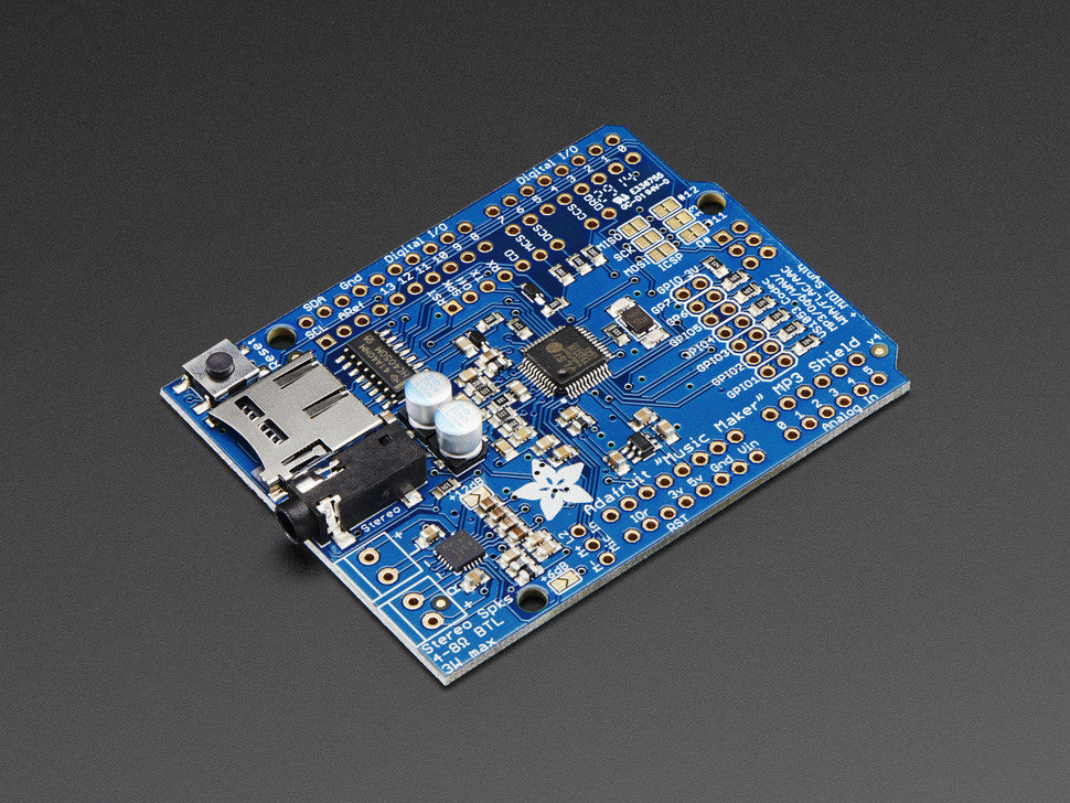 "Adafruit ""Music Maker"" MP3 Shield for Arduino w/3W Stereo Amp - Chicago Electronic Distributors  - 4"