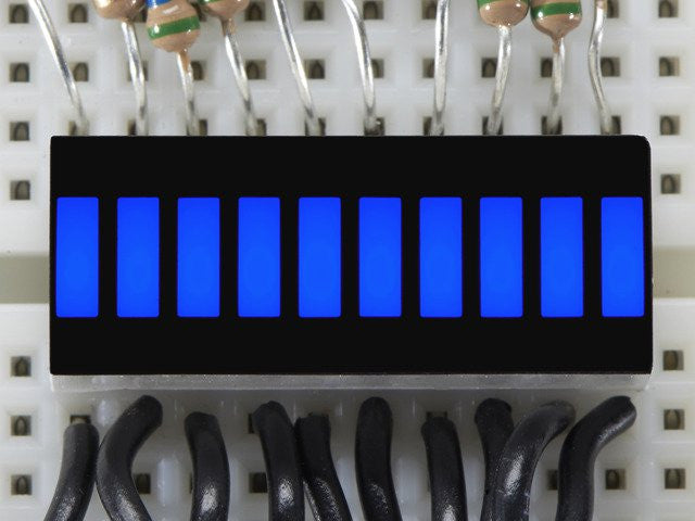 10 Segment Light Bar Graph LED Display - Blue - Chicago Electronic Distributors