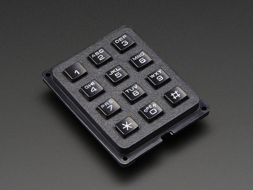 3x4 Phone-style Matrix Keypad - Chicago Electronic Distributors  - 1