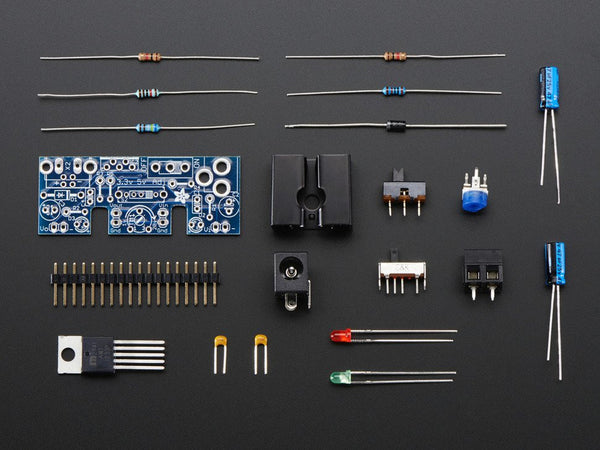 Adjustable breadboard power supply kit - v1.0 - Chicago Electronic Distributors