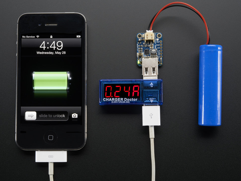 USB Charger Doctor - In-line Voltage and Current Meter - Chicago Electronic Distributors  - 4