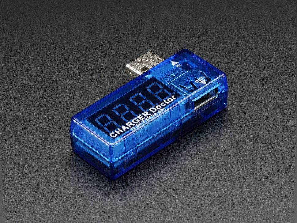 USB Charger Doctor - In-line Voltage and Current Meter - Chicago Electronic Distributors  - 6