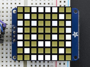"Small 1.2"" 8x8 Ultra Bright Square White LED Matrix + Backpack - Chicago Electronic Distributors"