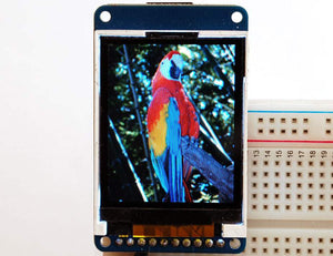 "1.8"" 18-bit color TFT LCD display with microSD card breakout - ST7735R - Chicago Electronic Distributors  - 1"