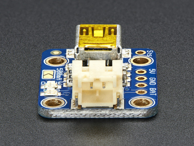 Adafruit Mini Lipo w/Mini-B USB Jack - USB LiIon/LiPoly charger - Chicago Electronic Distributors  - 5