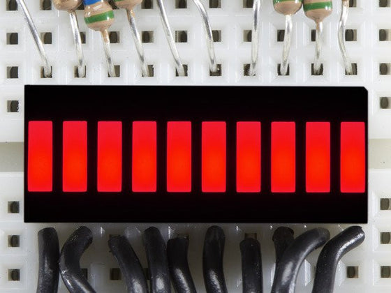 10 Segment Light Bar Graph LED Display - Red - Chicago Electronic Distributors