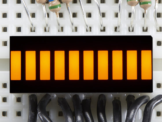 10 Segment Light Bar Graph LED Display - Yellow - Chicago Electronic Distributors