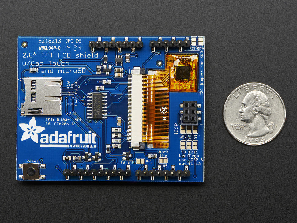 "2.8"" TFT Touch Shield for Arduino w/Capacitive Touch - Chicago Electronic Distributors  - 6"