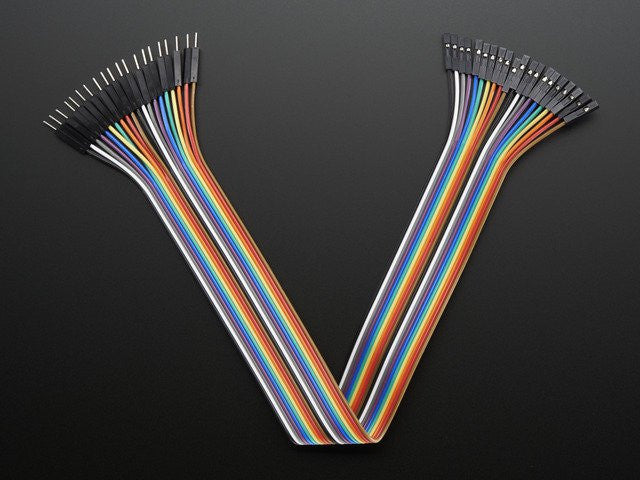 "Premium Female/Male 'Extension' Jumper Wires - 20 x 12"" - Chicago Electronic Distributors"
