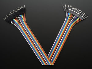 "Premium Male/Male Jumper Wires - 20 x 12"" (300mm) - Chicago Electronic Distributors"