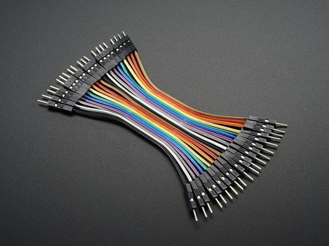 "Premium Male/Male Jumper Wires - 20 x 3"" (75mm) - Chicago Electronic Distributors"