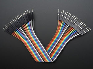 "Premium Male/Male Jumper Wires - 20 x 6"" (150mm) - Chicago Electronic Distributors"
