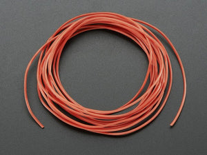 Silicone Cover Stranded-Core Wire - 2m 30AWG Red - Chicago Electronic Distributors