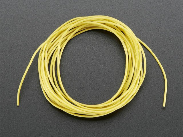 Silicone Cover Stranded-Core Wire - 2m 30AWG Yellow - Chicago Electronic Distributors
