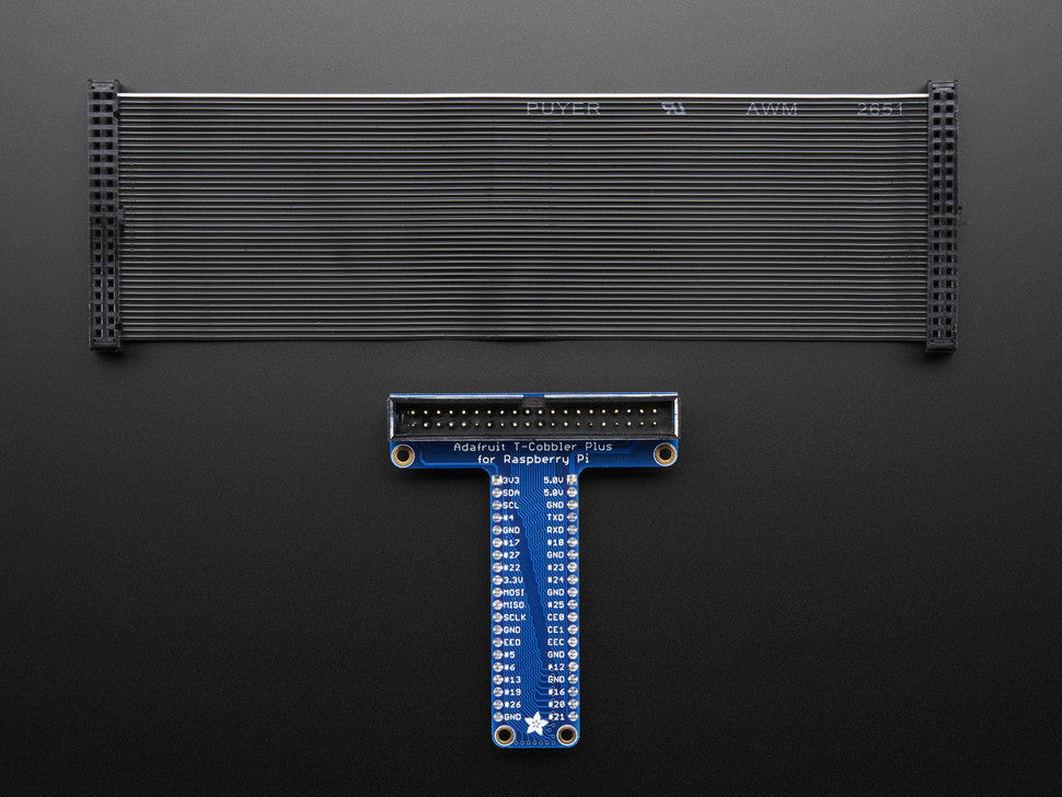 Assembled Pi T-Cobbler Plus - GPIO Breakout for Raspberry Pi B+ - Chicago Electronic Distributors  - 3