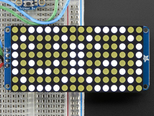 "16x8 1.2"" LED Matrix + Backpack - Ultra Bright Round White LEDs - Chicago Electronic Distributors"