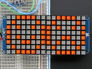 "16x8 1.2"" LED Matrix + Backpack - Ultra Bright Square Amber LEDs - Chicago Electronic Distributors"