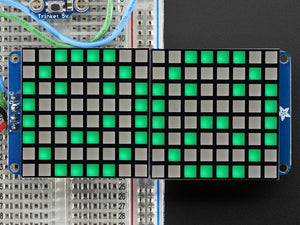 "16x8 1.2"" LED Matrix + Backpack - Ultra Bright Square Green LEDs - Chicago Electronic Distributors"