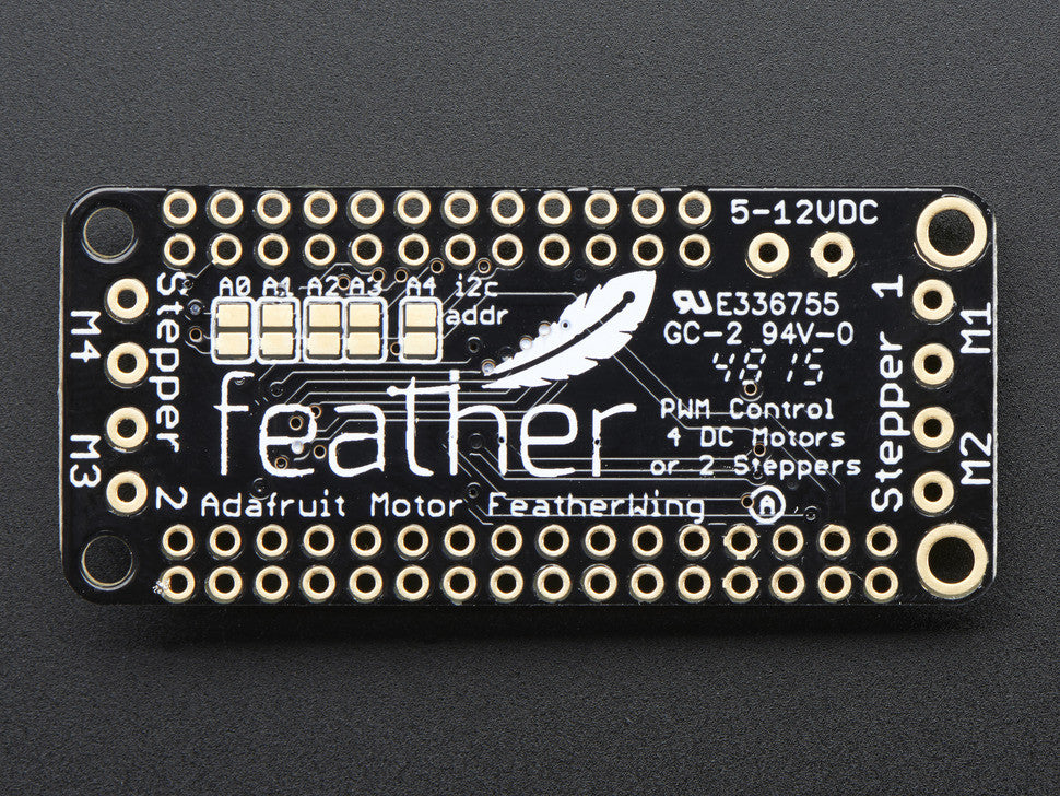 DC Motor + Stepper FeatherWing Add-on For All Feather Boards - Chicago Electronic Distributors  - 2