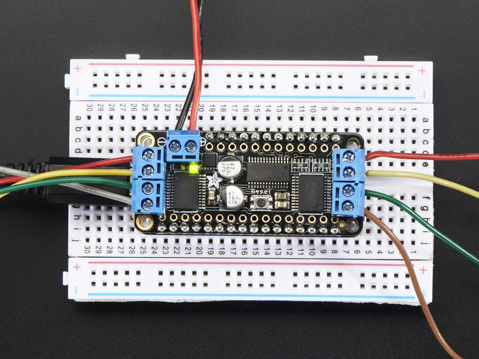 DC Motor + Stepper FeatherWing Add-on For All Feather Boards - Chicago Electronic Distributors  - 8
