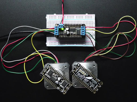 DC Motor + Stepper FeatherWing Add-on For All Feather Boards - Chicago Electronic Distributors  - 1