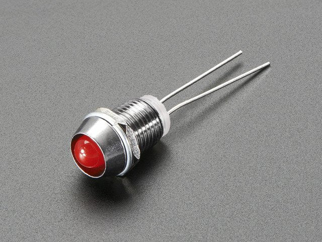5mm Chromed Metal Narrow Bevel LED Holder - Pack of 5 - Chicago Electronic Distributors