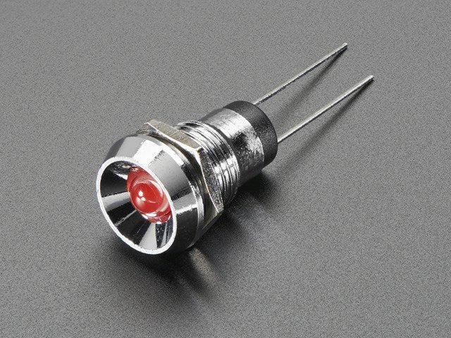 5mm Chromed Metal Wide Concave Bevel LED Holder - Pack of 5 - Chicago Electronic Distributors