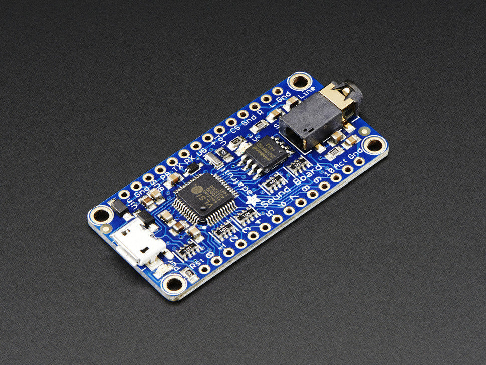 Adafruit Audio FX Sound Board - WAV/OGG Trigger with 16MB Flash - Chicago Electronic Distributors  - 1