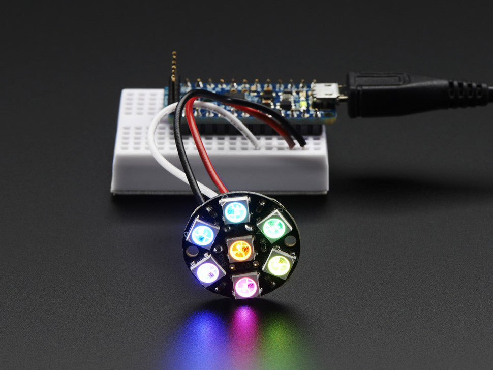NeoPixel Jewel - 7 x WS2812 5050 RGB LED with Integrated Drivers - Chicago Electronic Distributors  - 2