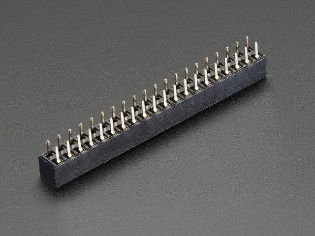 GPIO Header for Raspberry Pi HAT - 2x20 Short Female Header - Chicago Electronic Distributors