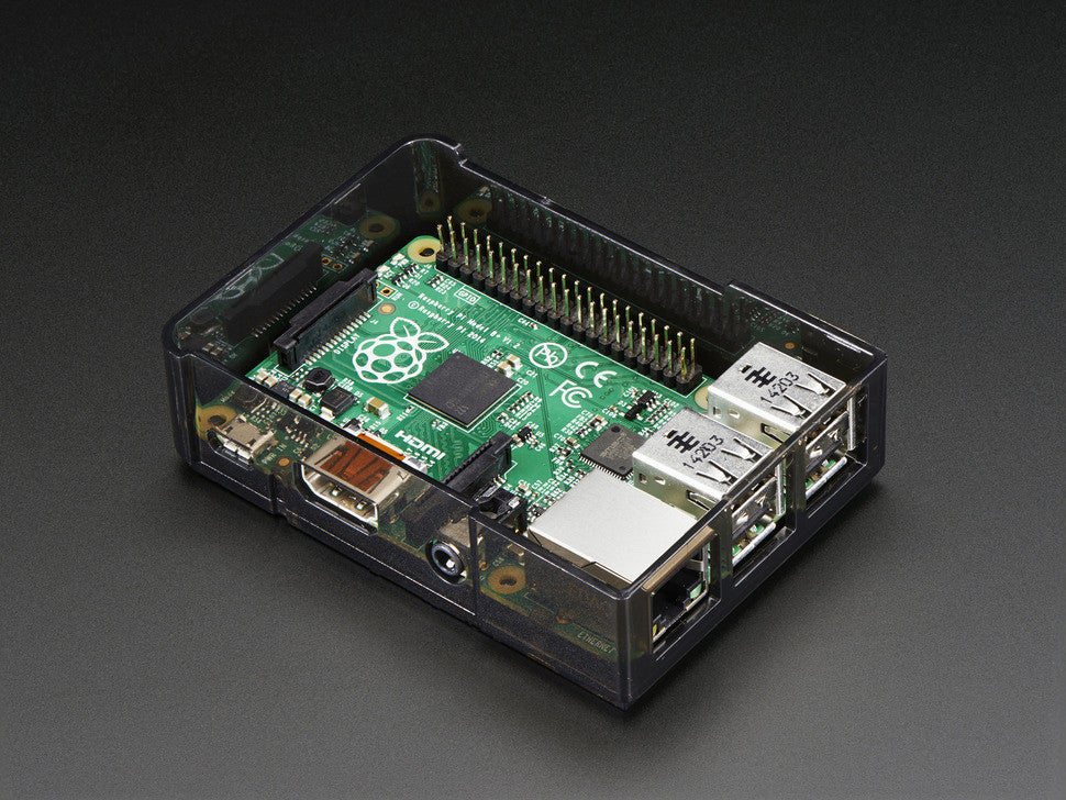 Adafruit Raspberry Pi B+ Case - Smoke Base w/ Clear Top - Chicago Electronic Distributors  - 6