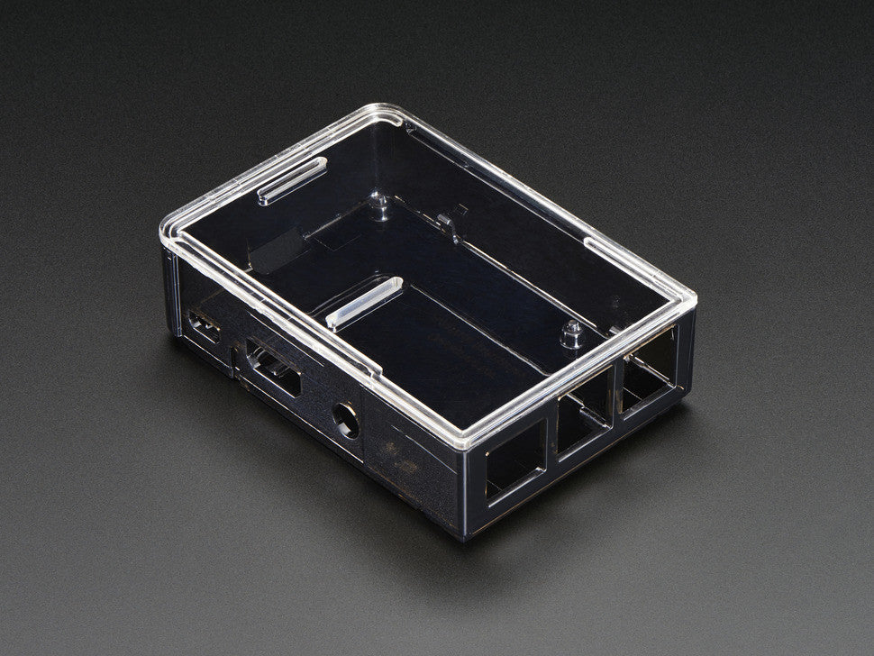 Adafruit Raspberry Pi B+ Case - Smoke Base w/ Clear Top - Chicago Electronic Distributors  - 2