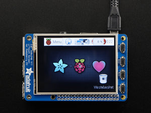 "PiTFT Plus Assembled 320x240 2.8"" TFT + Resistive Touchscreen - Pi 2 and Model A+ / B+ - Chicago Electronic Distributors  - 1"