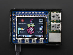 "Adafruit PiTFT 2.2"" HAT Mini Kit - 320x240 2.2"" TFT - No Touch - Chicago Electronic Distributors  - 1"