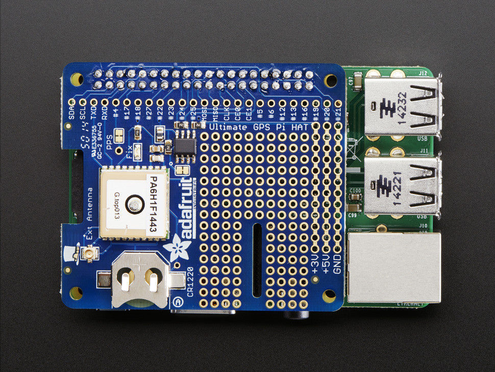 Adafruit Ultimate GPS HAT for Raspberry Pi A+ or B+ - Mini Kit - Chicago Electronic Distributors  - 2