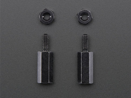 Brass M2.5 Standoffs for Pi HATs - Black Plated - Pack of 2 - Chicago Electronic Distributors  - 1