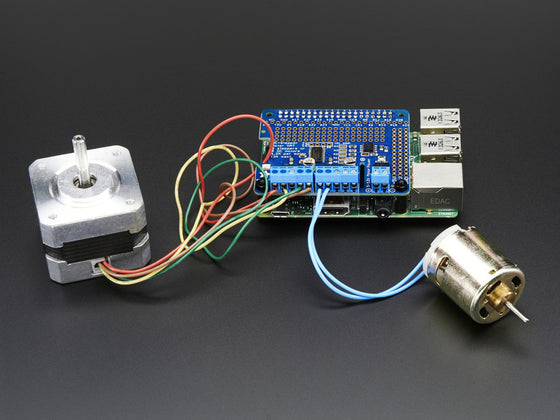 Adafruit DC & Stepper Motor HAT for Raspberry Pi - Mini Kit - Chicago Electronic Distributors  - 1