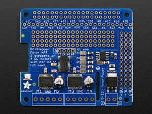 Adafruit DC & Stepper Motor HAT for Raspberry Pi - Mini Kit - Chicago Electronic Distributors  - 2